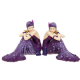 Elegant 1920's Amethyst Charleston ladies Figurines in Deep Purple DressSitting on the Ground. 2 Styles available 32250